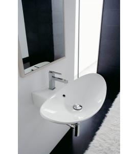 Lavabo installazione sospesa e da appoggio scarabeo zefiro 50R 8205