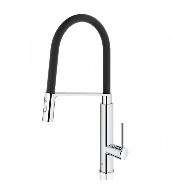 grohe concetto profi einhand sp ltischarmatur chrom schwarz matt 31491000 rubinetteria shop. Black Bedroom Furniture Sets. Home Design Ideas