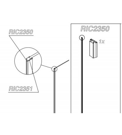 Samo Spare Part RIC2350 magnetic gasket unit for POLARIS DESIGN