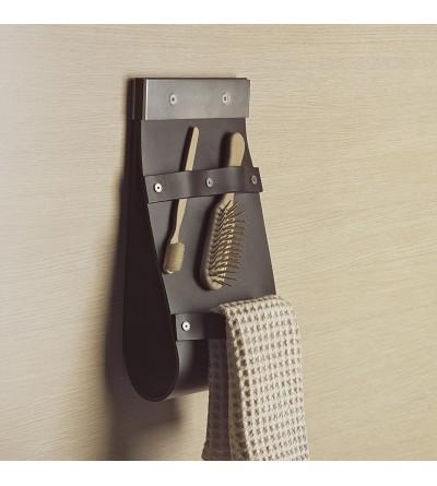 Porta oggetti a parete in cuoio Capannoli Baio BA17