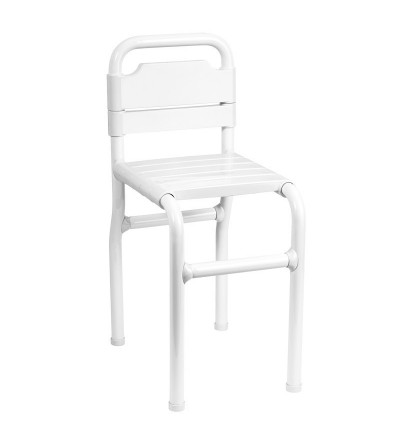 Tubocolor® Stool with seat and backrest slats ponte giulio G01JDS39