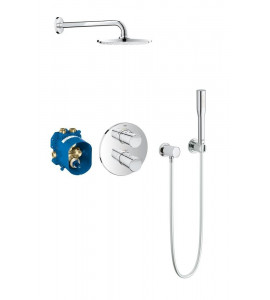 Grohe Grohtherm 2000 Cosmopolitan concealed shower system with Rainshower Cosmopolitan 210 34631000