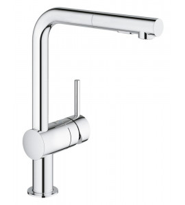 Grohe Minta kitchen mixer with pull-out spray chrome 30274000