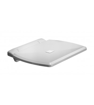 seggiolino doccia ribaltabile in acciaio inox e abs bianco W27JDS43