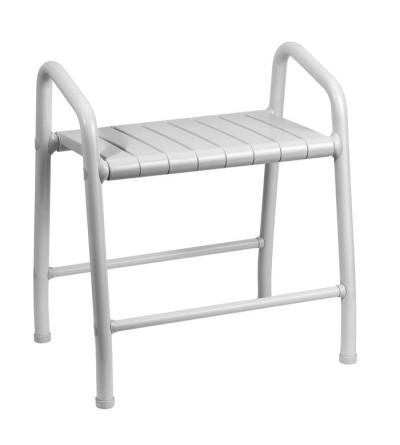 sgabello in acciaio rivestito con seduta in nylon e maniglie incorporate mm 593x458