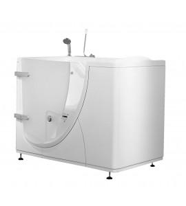 vasca con porta ad apertura verso l'esterno mm 1150x780 completa di guarnizione per bordo vasca