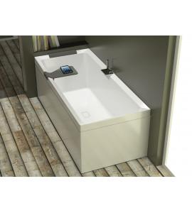 baignoire rectangulaire Hydro WHIRPOOL novellini divina avec robinetterie sur gorge