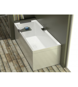 rrectangular bath hydromassage Hydro WHIRPOOL novellini divina with deck mounted bath group