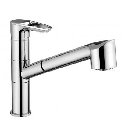 Grifo Monomando para fregadero ducha extraíble Piralla Armonia 0RM00568A16