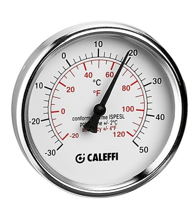 "Caleffi 687 Temperature gauge for cooling systems - 1/2"" central back connection"
