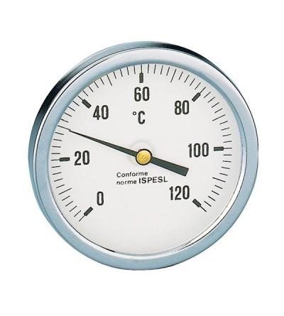 Caleffi 688 Thermometer, Anschluss hinten mittig