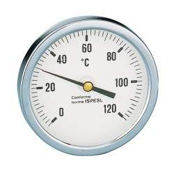 """Thermometer with 1/2"""" rear..."""