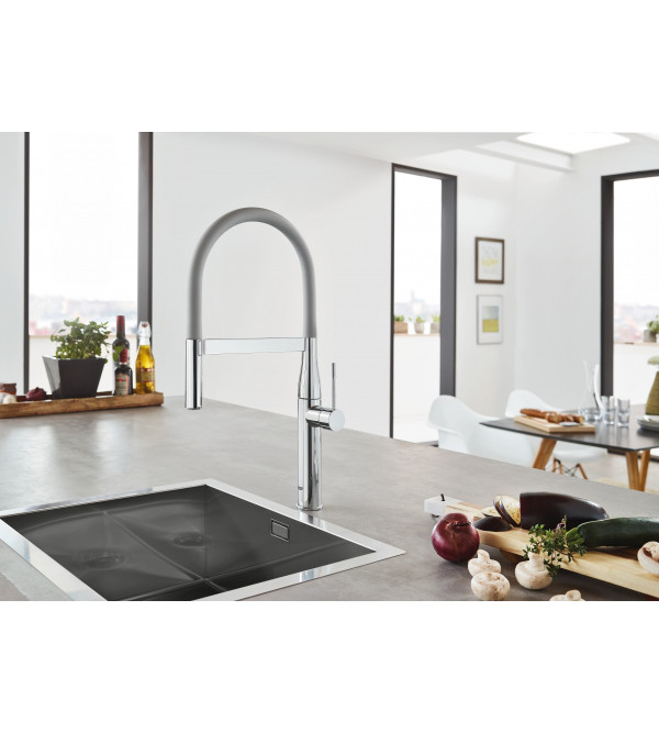 grohe grohflex k che schlauchauslauf dunkelgrau 30321xc0 rubinetteria shop. Black Bedroom Furniture Sets. Home Design Ideas