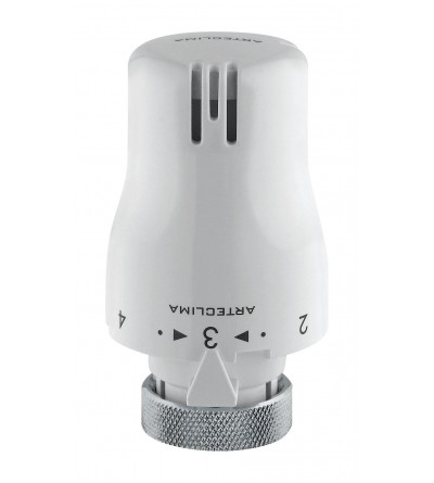 White thermostatic head with integrated sensor. Arteclima 39001