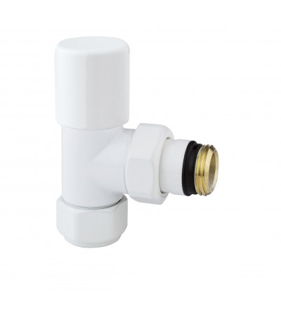 Angle radiator valve white thermostatic ARTECLIMA 308TW