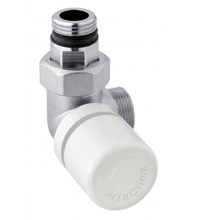 Chromed left angle radiator valve thermostatic ARTECLIMA 305