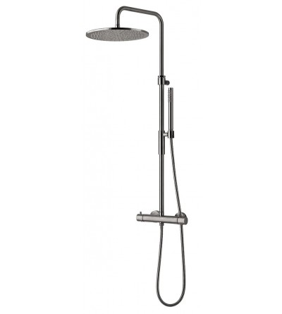 shower column with thermostatic mixer paffoni exclusive editions ZCOL646LIQCR