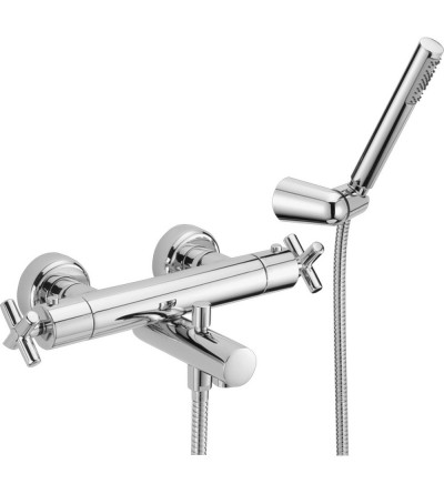 Exposed thermostatic bath mixer with shower set Huber Suite SUD27010