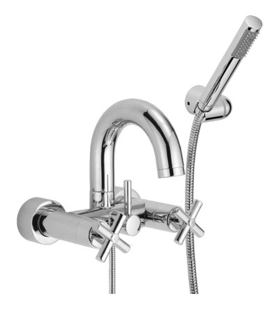 Exposed bath tap with shower set Huber Suite SU000120