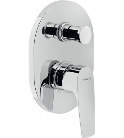 Single lever bath and shower mixer for concealed installation with 2 outlets diverter Nobili nobi NB84100CR