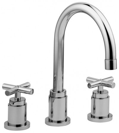 Three-holes basin mixer with swivel spout Paffoni Quattro QTV055