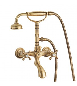 Exposed bath tap with shower set Porta&Bini old fashion 6001.cer