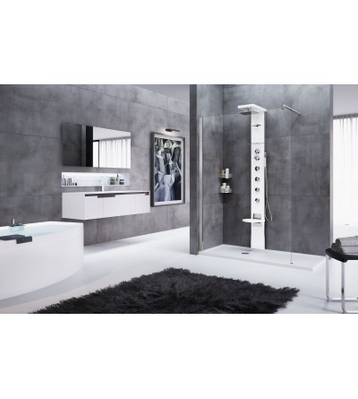 Shower column equipped novellini cascata 3