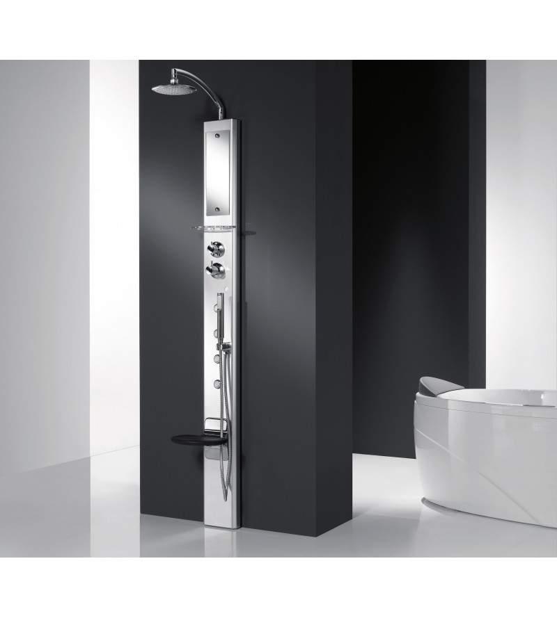 Colonna doccia attrezzata in alluminio Novellini Think 1
