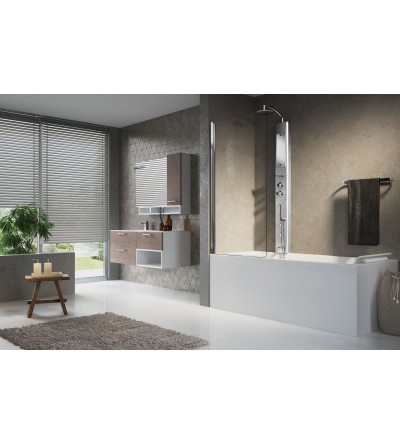 Column equipped shower bath screen novellini think 2