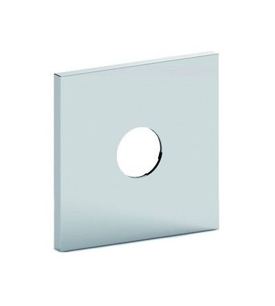ABS Rectangular one-hole wall plate for Box010 Paffoni ZPIA073cr