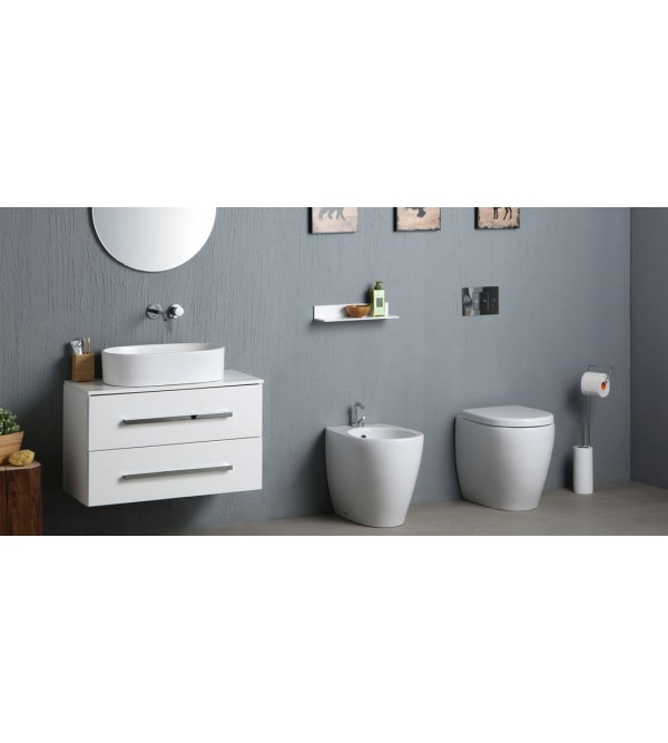 toilette und bidet mit sitz auf dem boden nero ceramica round51 rubinetteria shop. Black Bedroom Furniture Sets. Home Design Ideas