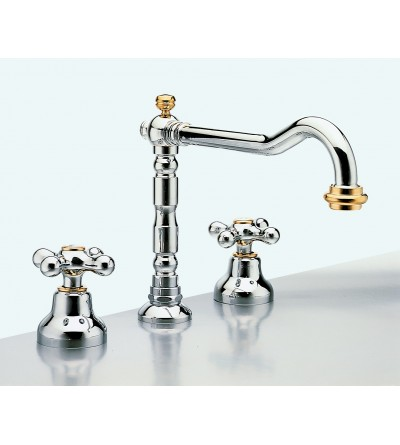 Three-holes basin mixer with swivel spout resp old america 124