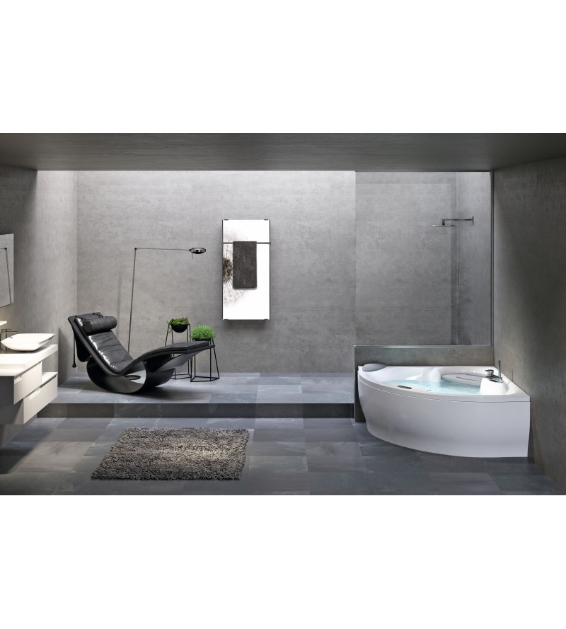 corner bath without...