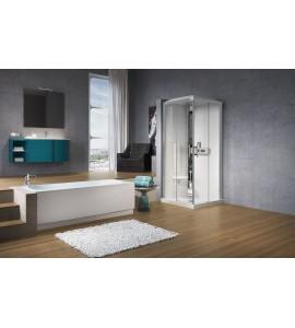 Cabinas de ducha angular asimétrica novellini Glax A90X70