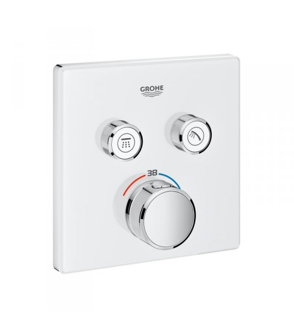 smartcontrol thermostat mit 2 absperrventilen grohe grohtherm 29156ls0 rubinetteria shop. Black Bedroom Furniture Sets. Home Design Ideas