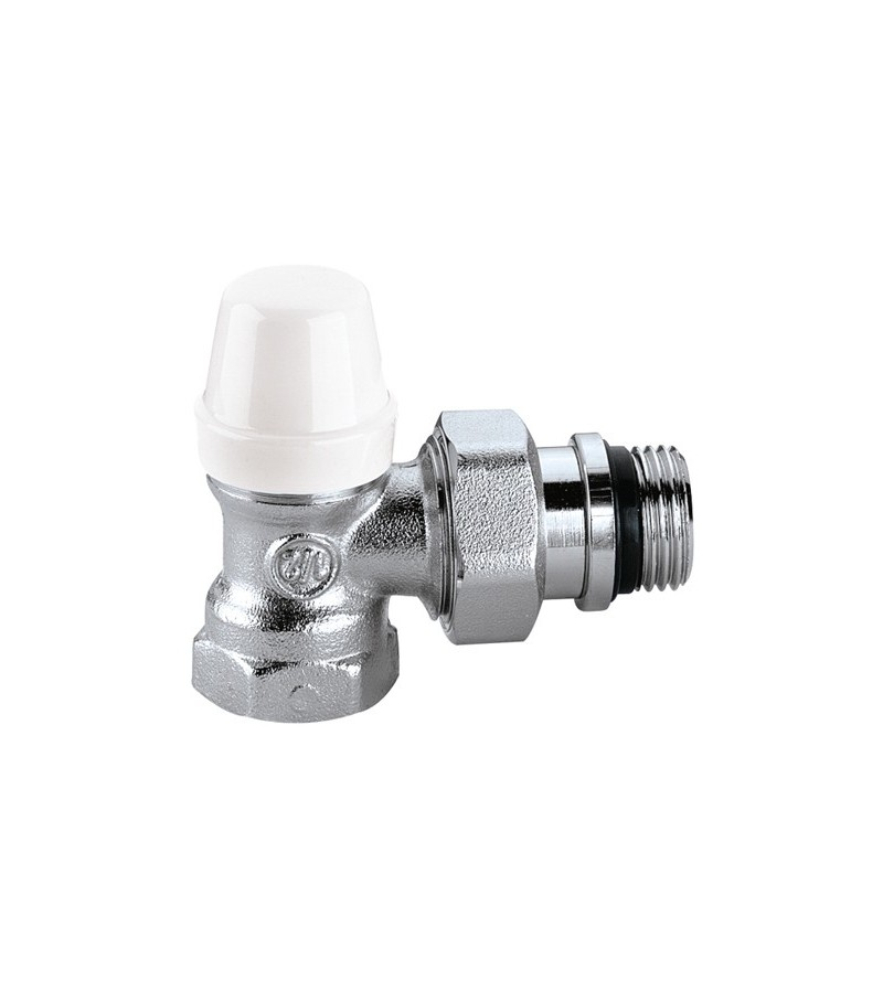 Angled lockshield valve for...