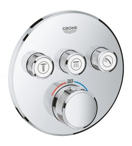 SmartControl thermostat with 3 shut-off valves Grohe Grohtherm 29121000