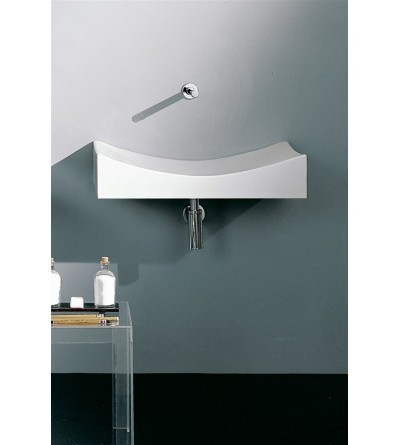Lay-on or wall-hung washbasin Scarabeo Tsunami 90 8038
