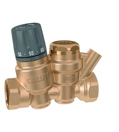 Regulador termostático para circuitos de recirculación de agua caliente sanitaria caleffi 116