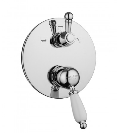 Built-in shower mixer with diverter three outlets new old portya&bini 10532