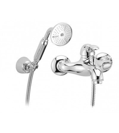 Exposed bath mixer with shower set Porta&Bin Royal 10200