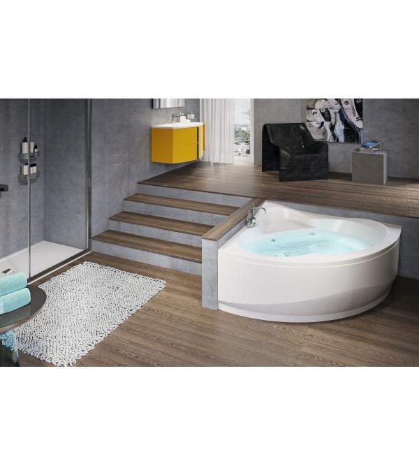 Vasca ad angolo versione con idromassaggio novellini una rubinetteria shop - Vasche bagno angolari ...