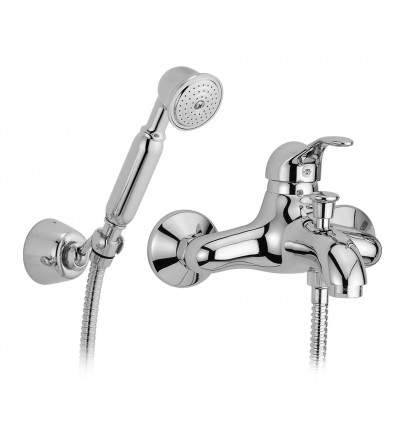 Exposed bath mixer with shower set porta&bini Duna 7000