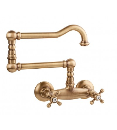 Wall mounted three-holes basin tap Porta&Bini Old Faschion 6052.cer