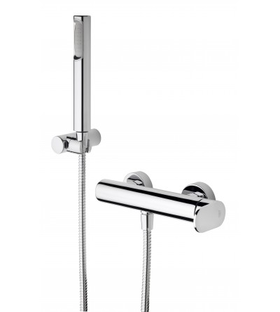 Exposed shower mixer with shower set Paffoni Candy CA168