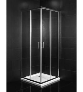 Mamparas de ducha angular de dos puertas correderas + dos fijos Piralla Matilde
