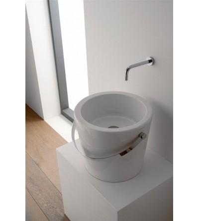 Lavabo in ceramica da appoggio scarabeo bucket 30 8801