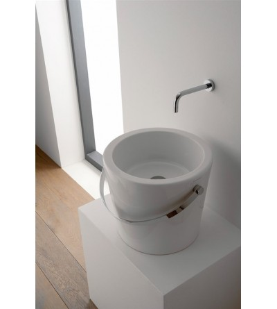 Lay-on washbasin scarabeo bucket 30 8801