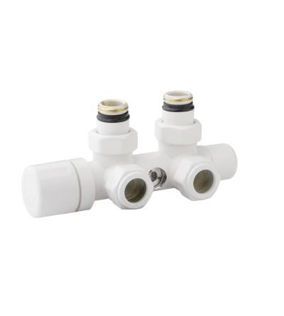 Valvola mono-bitubo termostatizzabile cromata versione destra o sinistra Arteclima 4010CHT