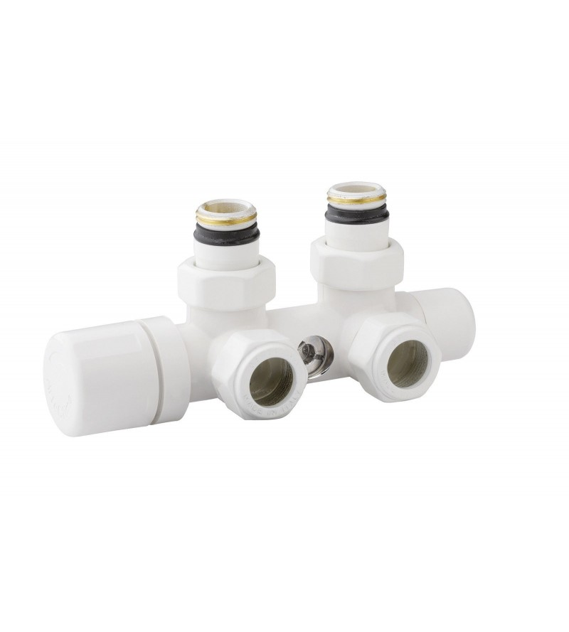 White plated thermostatic...